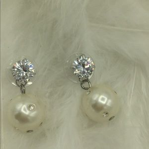 ❤️❤️925 sterling silver pearl earrings